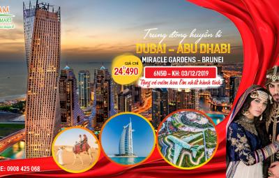 Tour du lịch Dubai - Brunei 6N tháng 12 giá rẻ