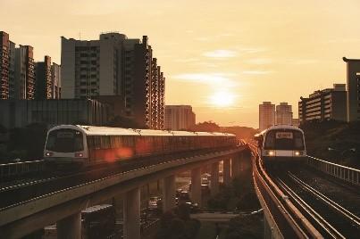 Tàu điện ngầm MRT.