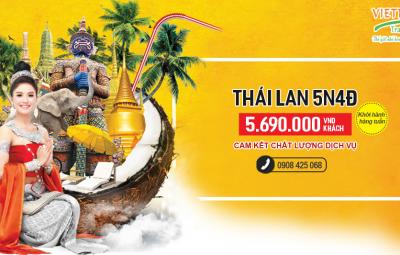 Tour Thái Lan 5N giá rẻ khởi hành tphcm