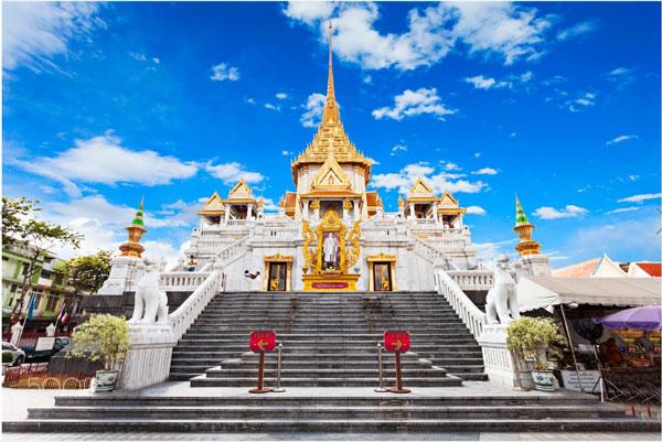Viếng chùa Phật Vàng Wat Tri Mit