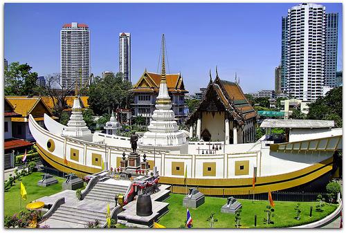 Chùa Thuyền - Bangkok - Thái Lan