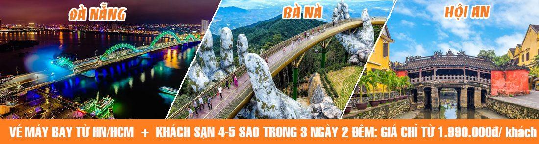 Combo Da Nang Hoi An Ba Na Hill 4-5sao